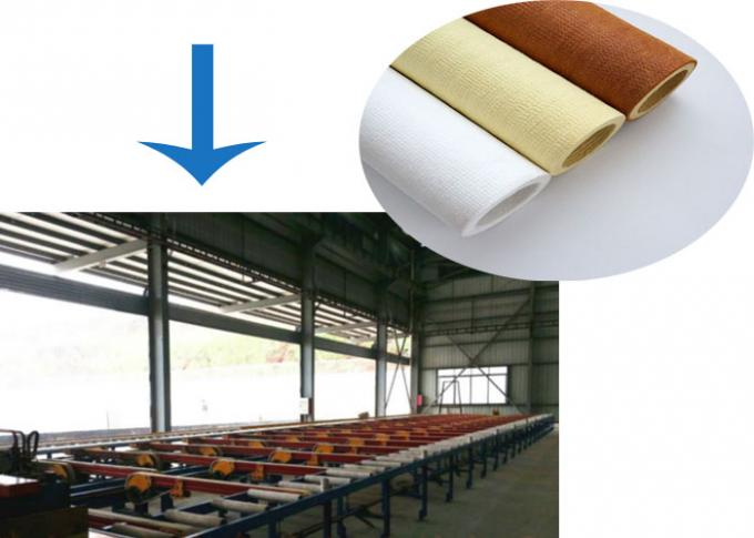 Needle Industries Felt Fabric Felt Roller Covers For Aluminum Extrusion Run-out Table