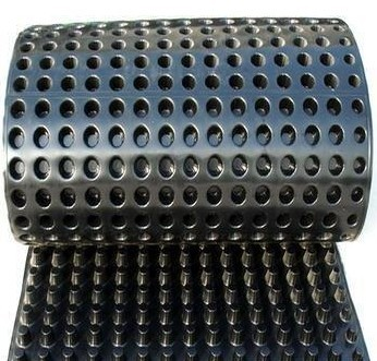 Geocomposite Drain Black Color Dimpled Plastic Drain Sheet For Underground Waterproofing