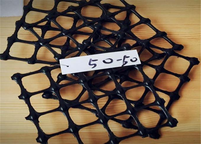50-50 kn/m  Geogrid Reinforcing Fabric PP Biaxial Geogrid Mesh aperture 3-4cm