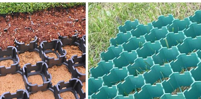 Geocomposite Draom, Plastic Paving Grids 500mm Length Simple Structure For Parking Lots