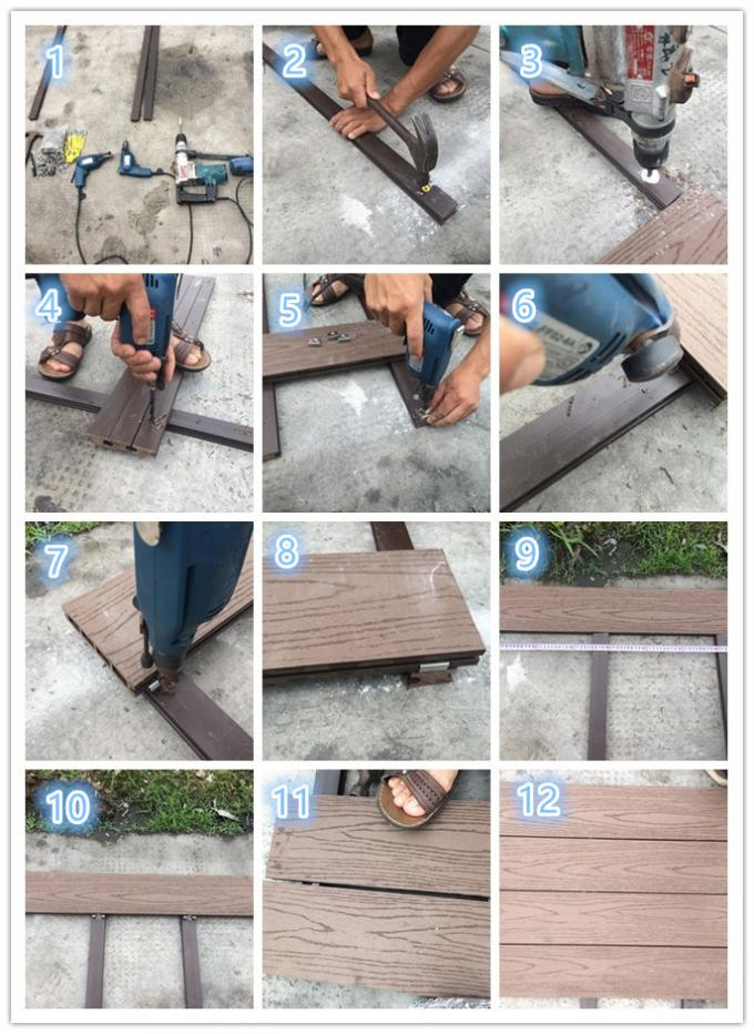 Wood  Plastic Composite Eco-friendly Recycle Decking Flooring Board
