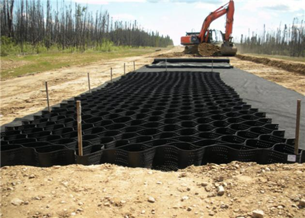 Perforated HDPE Geocell Slope Protection Plastic Gravel Stabilizer
