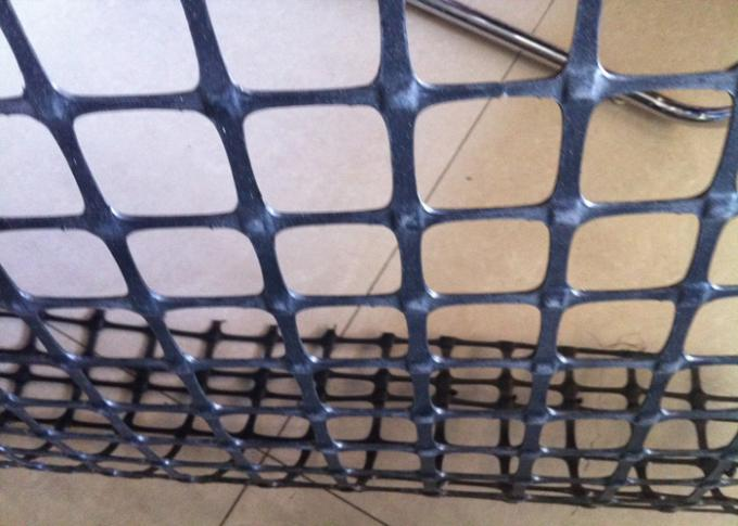 Dam Slope Protection Polypropylene Geogrid Reinforcing Fabric 15 - 50KN / M