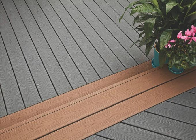 Recyclable Wood Plastic Composite Decking Board For Outdoor Balcony