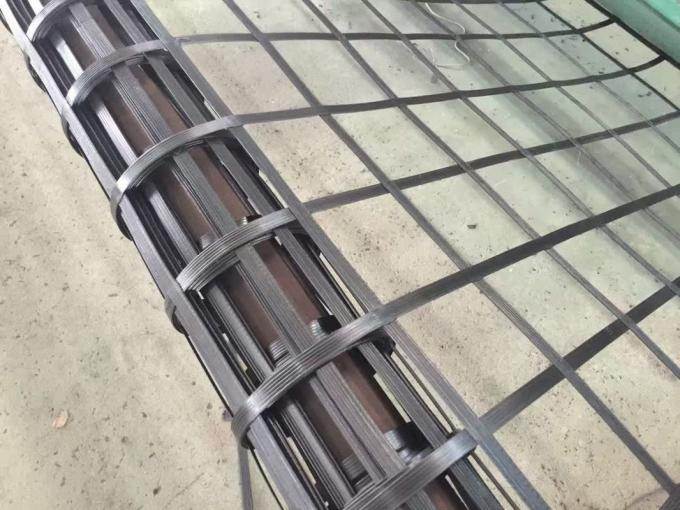 5.95m Width PP Welded Biaxial Geogrid for Road Construction 30KN - 30KN
