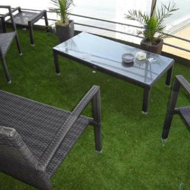 Balcony Artificial Turf Grass , Artificial Putting Turf 10mm~60mm Pile Height