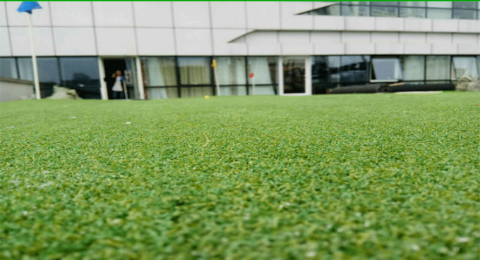 3/8 Gauge Artificial Sports Turf , Artificial Putting Green Turf For Golf Field