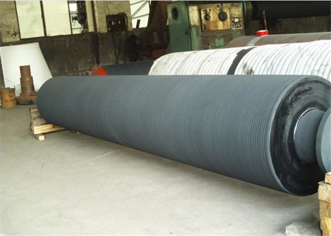 Paper Making Machine Parts - Grooved Press roll For Paper Mill