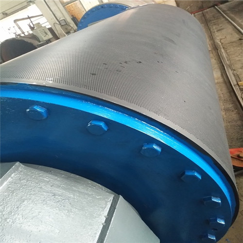 Paper Making Machine Parts -  Rubber Coated Blind Drilled Press Roll