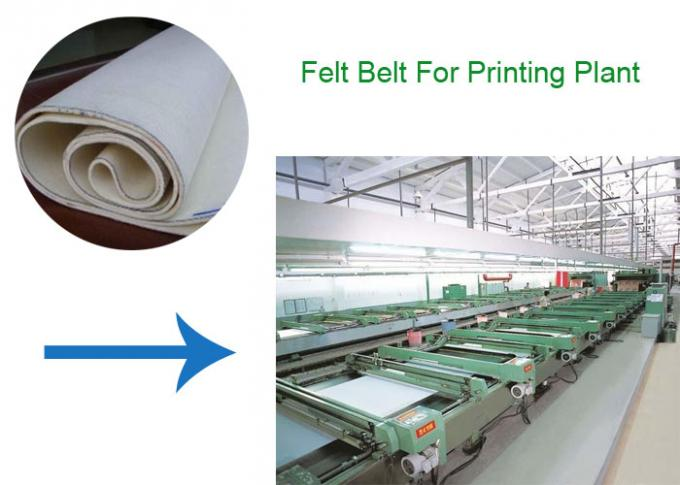 300 Degree White Color Endless Aramid Heat Transfer Printing Blanket For Roller Printing Machine