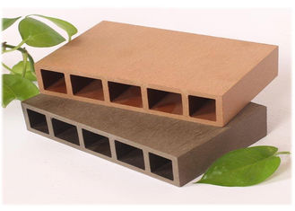 China UV Resistant Hollow Wood plastic Composite Decking , Waterproof Hollow Decking Boards supplier