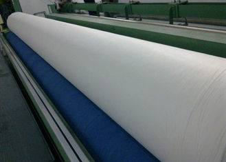 China 6m Width White Non Woven Polypropylene Geotexitle Fabric High Strength supplier