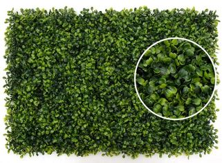 China Grape Leave Artificial Green Plants , Artificial Hedge Screening Wall supplier
