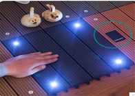 China Wood  Plastic Composite DIY Flooring Board with colorful  light factory