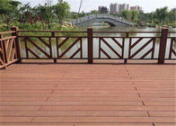 China Wood  Plastic Composite Flooring Board for Indoor and Outdoor Using factory