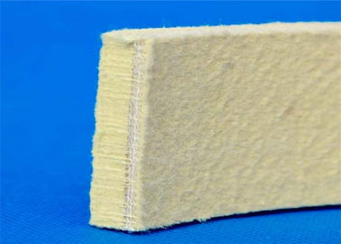 Needling Kevlar Industrial Felt Pads Heat Resistant Yellow Color For Cooling Table