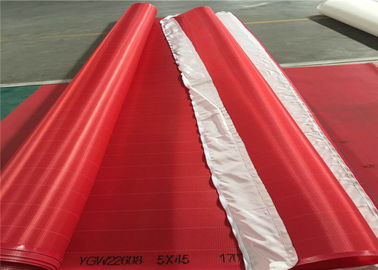Red / White Paper Machine Clothing Polyester Screen Mesh Insert Seam Type