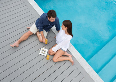 Grey WPC Composite Decking Board / Outdoor Floor Decking Tiles