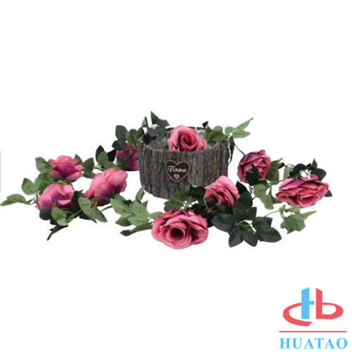 Decoration Handmade Silk Flowers Artificial Rose Wedding Real Touch